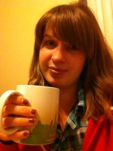 Me with my tea