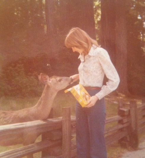 mom and deer