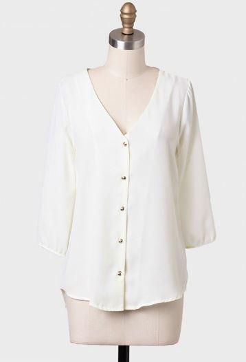 Aurora chiffon blouse, Ruche