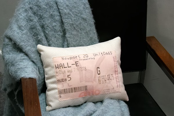 DIY movie stub pillow