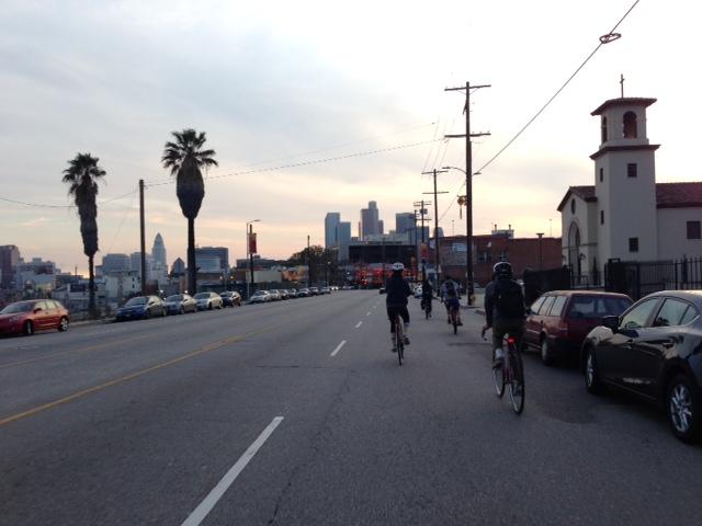 biking in LA