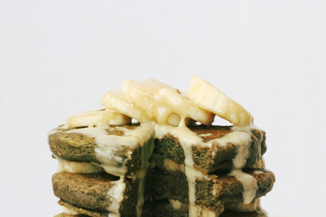 Matcha Green Tea Banana Buckwheat Pancakes