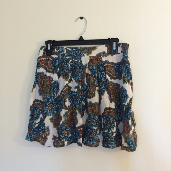 vintage paisely skirt
