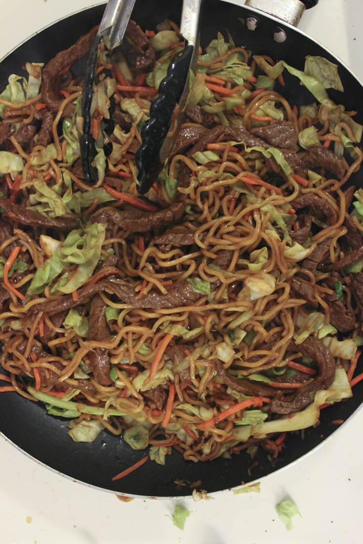 Beef & veggie stir fry with FortuneNoodles