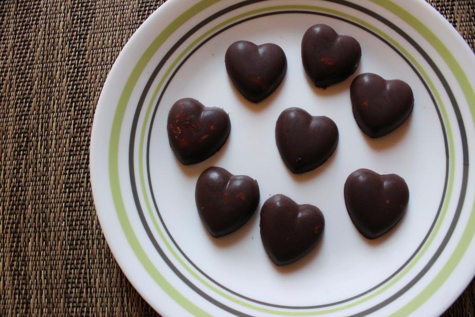 Chocolate peanut butterhearts