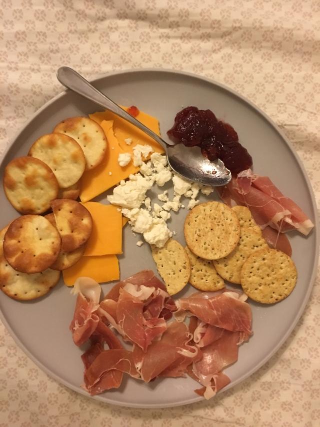snack plate dinner