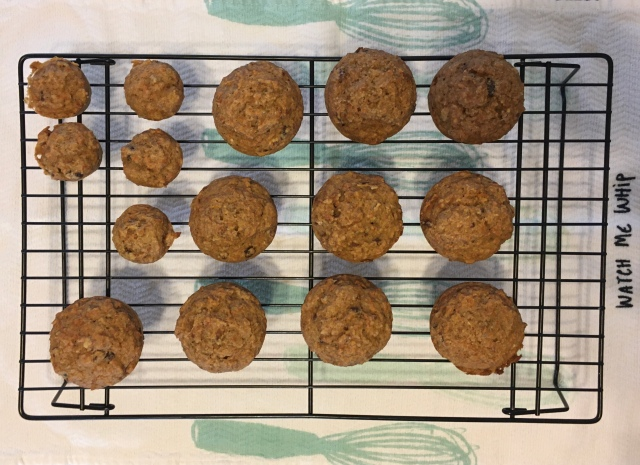 carrot apple muffins overhead