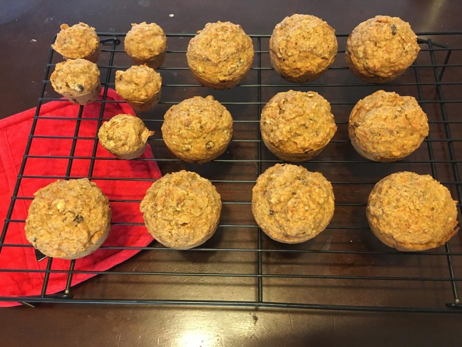 vegan carrot apple muffins