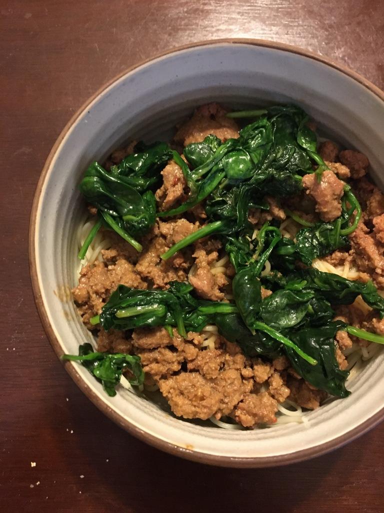 Dan Dan inspired noodles
