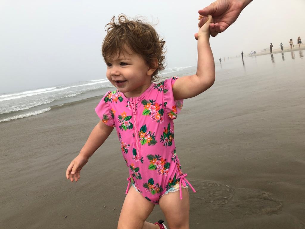 Maggie at Santa Monica beach